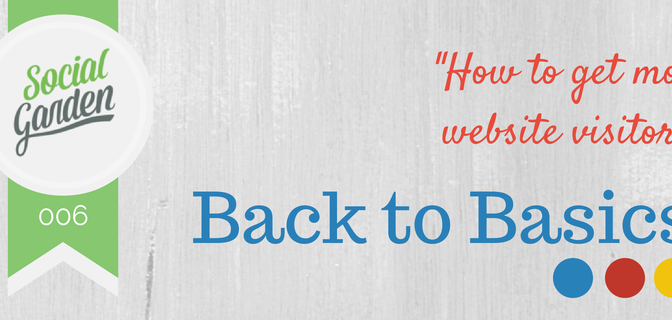 Back to Basics: How to get more website visitors