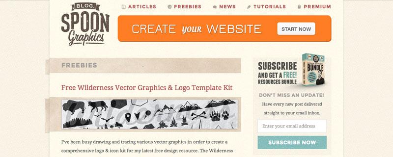 graphics designer provides freebies
